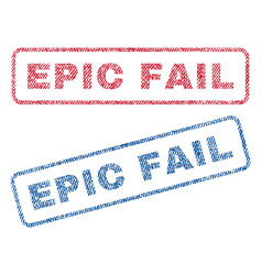 Epic fail textile stamps vector