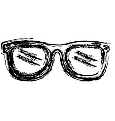 Eye glasses fashion icon vector