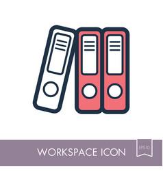 File folder outline icon workspace sign vector