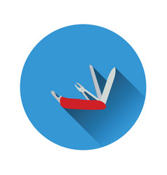 Flat design icon of folding penknife vector