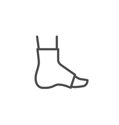 foot orthopedic cast line outline icon vector image