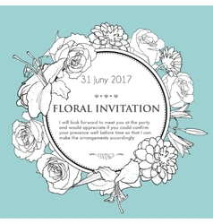 Foral background for wedding birthday invitation vector image