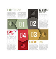Four parts design template vector image