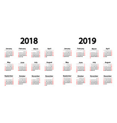 great new wall calendar 2019 vector image