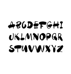 hand drawn typeface set isolated on white vector image