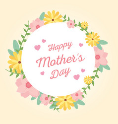 happy mothers day flowers floral ornament banner vector image