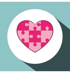 heart Puzzle icon design vector image