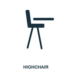 highchair icon mobile apps printing and more vector image