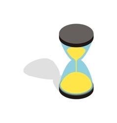 Hourglass clock icon isometric 3d style vector image