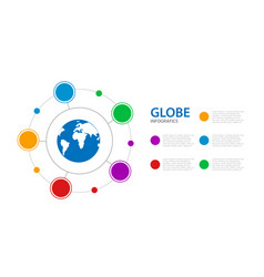 infographics business with a globe in center vector image