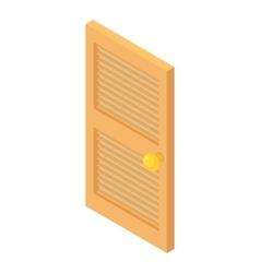 Interior wooden door icon cartoon style vector