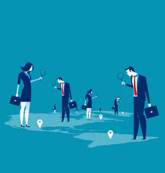Investor business people searching for vector