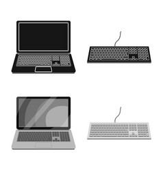 Isolated object of laptop and device symbol vector