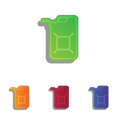 Jerrycan oil sign Jerry can oil sign Colorfull vector