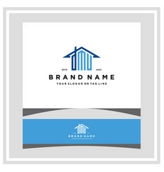 Letter dmu home roof logo design and business card vector