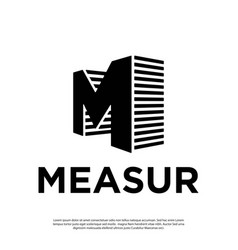 letter logo m with perspective style vector image