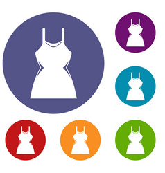 little dress icons set vector image