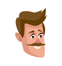 Man face character people flat design vector