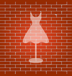 mannequin with dress sign whitish icon on vector image