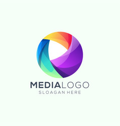 media logo design vector image