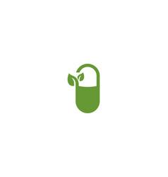 medicine herbal logo vector image