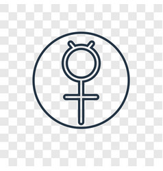 Mercury concept linear icon isolated on vector