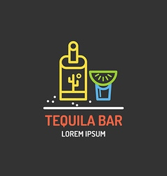Mexican bar logo vector