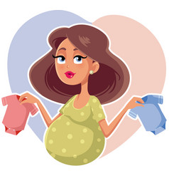 Mother holding baby onesies cartoon vector