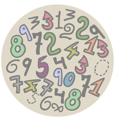 Numbers art vector