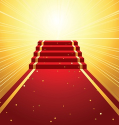 On red carpet vector