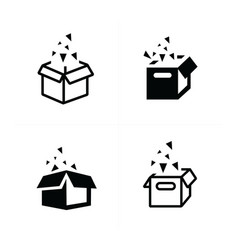 Open box icons vector