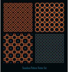 orange blue forms design vector image