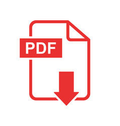 Pdf download icon simple flat pictogram for vector