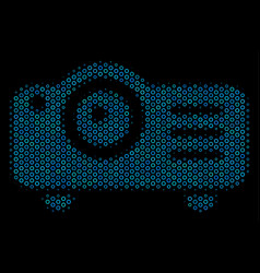 projector mosaic icon of halftone spheres vector image