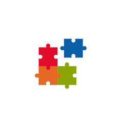 puzzle graphic design template isolated vector image