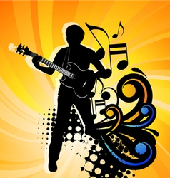 rock group guitarist vector image