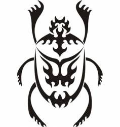Sacred scarab tribal tattoo vector
