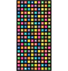 set of 200 colorful mobile icon vector image