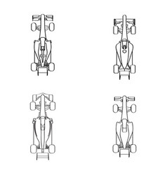 Set of racing cars vector