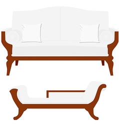 Sofa and divan vector image