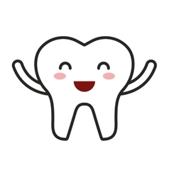 Teeth character isolated icon vector