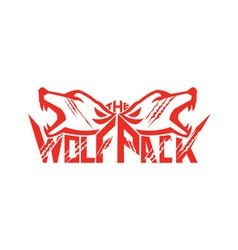The Wolf Pack Head Retro vector image