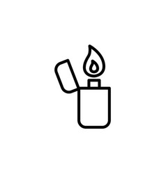 thin line lighter icon vector image