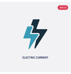 Two color electric current icon from signs vector