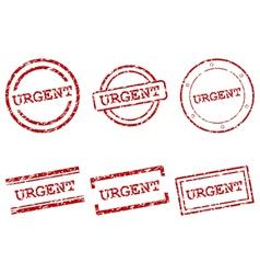 Urgent stamps vector image vector image