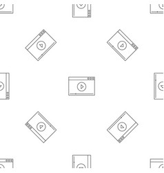video play pattern seamless vector image