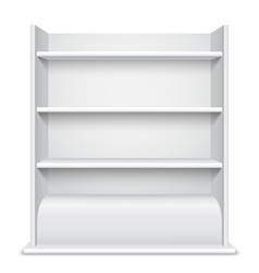 White Showcase wiyh Empty Shelves vector