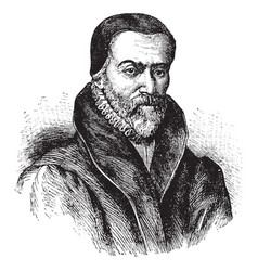William tyndale vintage vector