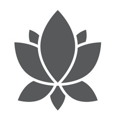 Yoga glyph icon flower and health lotus sign vector