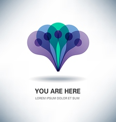 You Are Here Pointer Sign Design vector